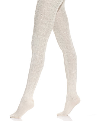 Hue Chunky Cable Knit Tights