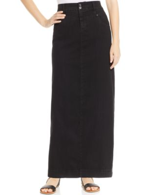 Style & Co. Knit Denim Skirt, Punk Blue Wash - Skirts - Women - Macy's