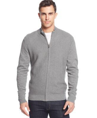 Alfani RED Slim Fit Solid Full-Zip Cardigan Sweater - Sweaters ...
