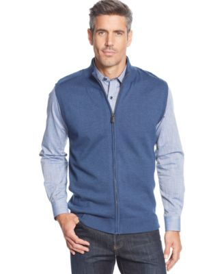 Greg Norman for Tasso Elba Quarter-Zip Golf Sweater Vest ...
