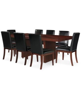 Bari Black 9 Pc  Dining Set  Table   8 Chairs Bari Black 9 Pc  Dining Set  Table   8 Chairs    Furniture   Macy s. Dining Sets For 8. Home Design Ideas