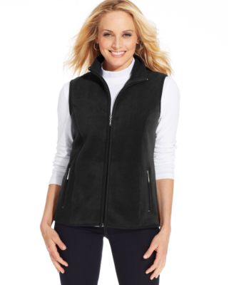 Karen Scott Sleeveless Fleece Vest - Women's Brands - Women - Macy's