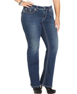 Seven7 Jeans Plus Size Bootcut Jeans, Colt Wash - Jeans - Plus ...