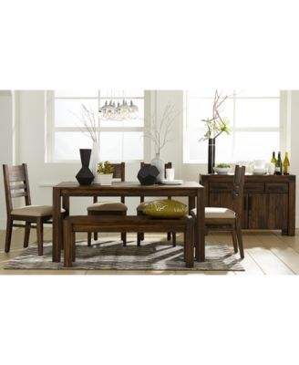 avondale 6-pc. dining room set (table, bench & 4 side chairs