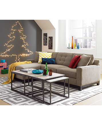 Clarke Fabric Sofa Living Room Furniture Sets & Pieces - Furniture ...