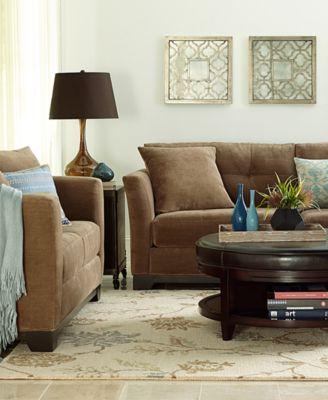 Elliot Fabric Microfiber Living Room Chair - Furniture - Macy\'s