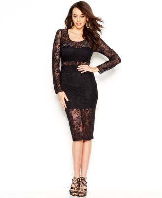 Guess lace dress in black