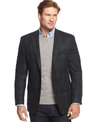 Lauren Ralph Lauren Black Watch Plaid Sport Coat - Blazers & Sport ...