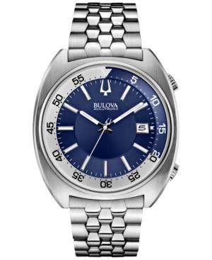 Bulova Accutron Ii Men's Snorkel Stainless Steel Bracelet Watch 43mm 96B209