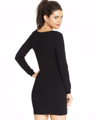 Material Girl Juniors' Ribbed Sweater Dress - Dresses - Juniors ...
