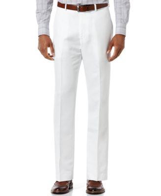 Men's Linen Blend Solid Twill Pants