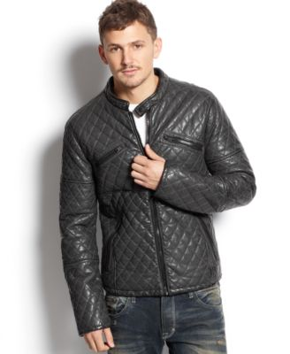 Rogue State Quilted Faux Leather Jacket - Coats & Jackets - Men ... : faux quilted leather jacket - Adamdwight.com