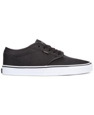 vans leather atwood black
