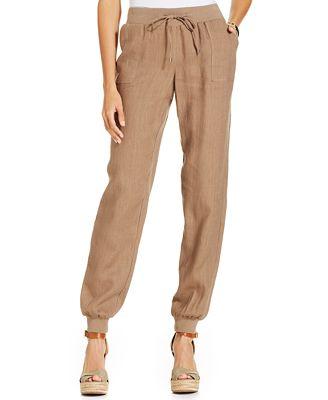 Style Amp Co Linen Jogger Pants Pants Amp Capris Women Macy S