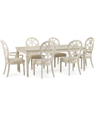 Covina 7 Piece Dining Set Table 4 Side Chairs 2 Arm