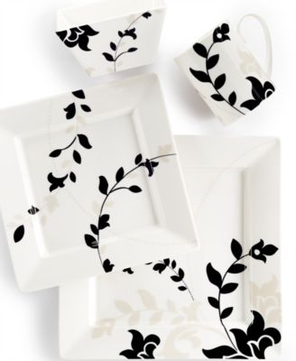 Martha Stewart Collection Toulon Square 4-Pc. Place Setting, Only at Macy's
