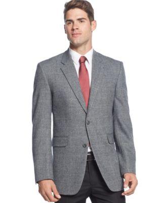 Club Room Khaki Herringbone Sport Coat - Blazers & Sport Coats ...