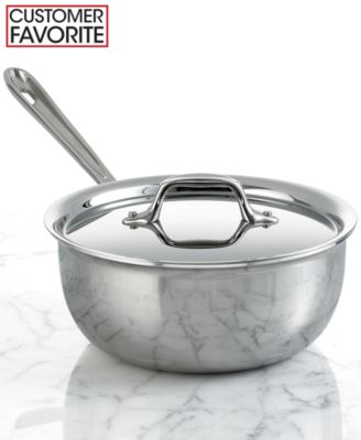 All-Clad Stainless Steel 2.5 Qt. Covered Deep Saucier