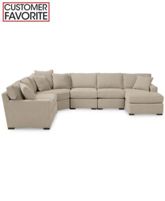 Radley 4 Piece Fabric Modular Chaise Sectional Furniture