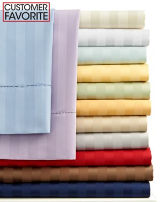 Charter Club Damask Stripe 500 Thread Count Queen Sheet Set
