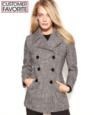 Anne Klein Wool Pea Coat - Coats - Women - Macy's