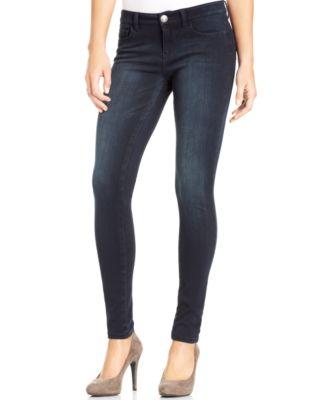 Celebrity Pink Jeans Juniors&39 Super-Soft Black-Wash Skinny Jeans