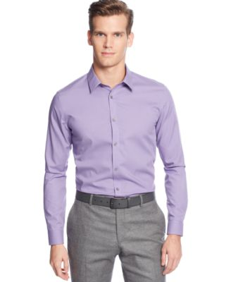 Calvin Klein Core Micro-Checked Non-Iron Slim-Fit Shirt - Casual ...