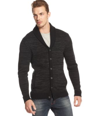 Alfani BLACK Marled Shawl-Collar Cardigan - Sweaters - Men - Macy's