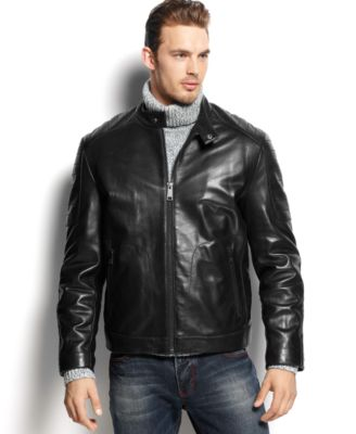 Marc New York Sander Quilted Leather Moto - Coats & Jackets - Men ... : quilted leather moto jacket - Adamdwight.com