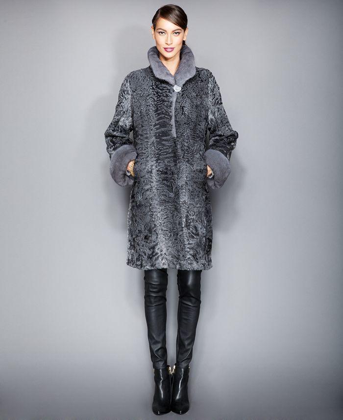 The Fur Vault - Persian Lamb & Mink Fur Coat