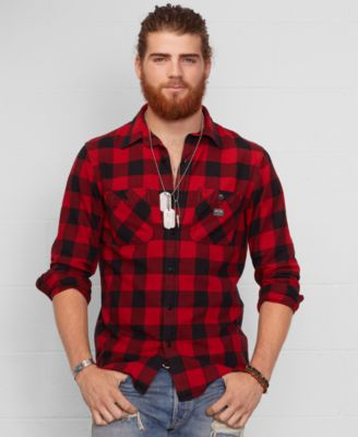 Denim & Supply Ralph Lauren Buffalo Check Flannel Shirt - Casual ...