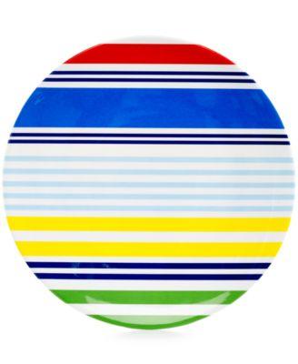 Martha Stewart Collection Striped Melamine Dinner Plate  sc 1 st  Macy\u0027s & Martha Stewart Collection Striped Melamine Serving Bowl - Serveware ...