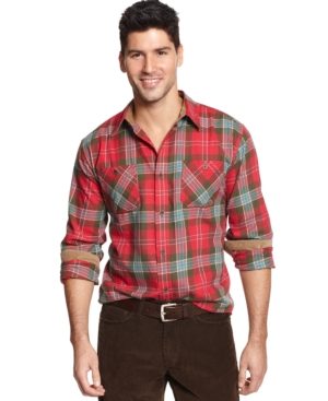 Weatherproof Vintage Plaid Flannel Shirt $39.99 AT vintagedancer.com