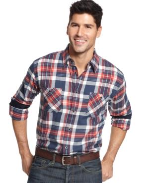 Weatherproof Vintage Plaid Flannel Shirt $39.99 AT vintagedancer.com