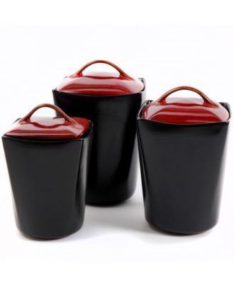 Gibson Barcelona Red 3-Piece Canister Set