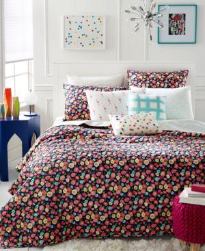 Martha Stewart Whim Collection Pretty in Poppy King Quilt Bedding