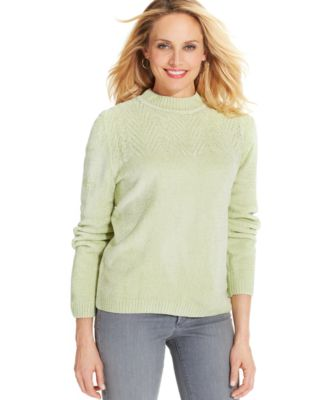 Alfred Dunner Mock-Turtleneck Chenille Sweater - Sweaters - Women ...
