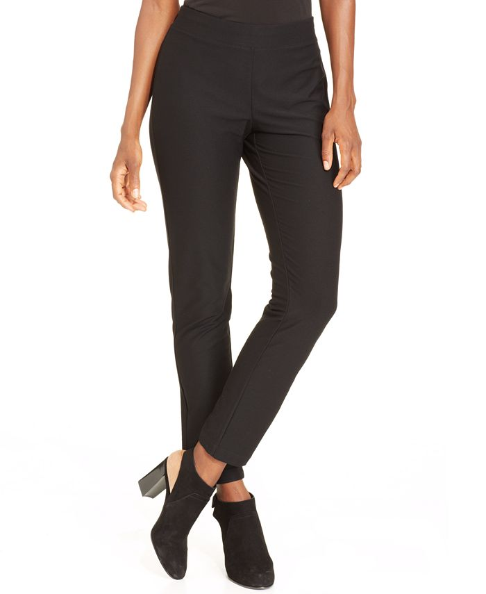 Eileen Fisher - Slim-Pull-On Ankle Pants