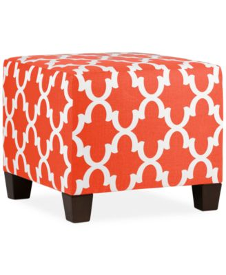 Anaheim Feathers Fabric Ottoman Direct Ships For Just 9