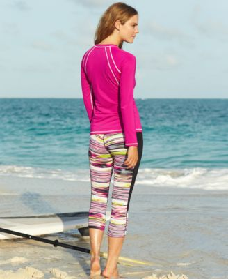 Nike Printed Swim Capri Cover-Up Leggings - Swimwear - Women - Macy's