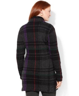 Lauren Ralph Lauren Plus Size Plaid Sweater Coat - Sweaters - Plus ...