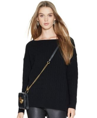 Polo Ralph Lauren Oversized Cable-Knit Wool-Cashmere Sweater ...