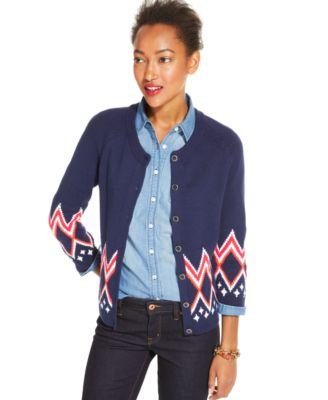 Tommy Hilfiger Fair-Isle Cardigan - Sweaters - Women - Macy's