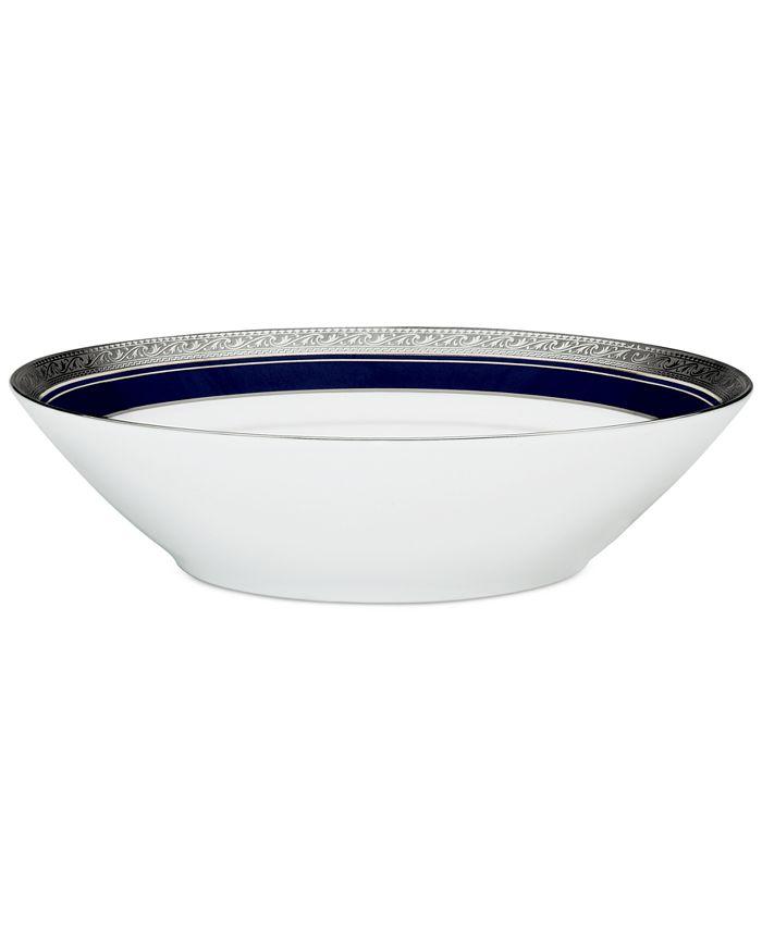 "Noritake - ""Crestwood Cobalt Platinum"" Soup Bowl"