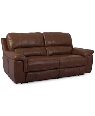 brandie leather 2piece sectional sofa with 2 power - 2 Piece Sectional