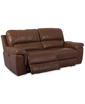 brandie leather 2piece sectional sofa with 2 power recliners furniture macyu0027s - 2 Piece Sectional