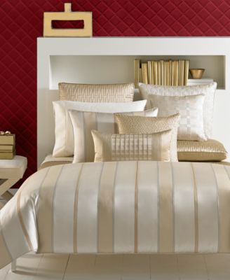 hotel collection regal stripe quilted king sham