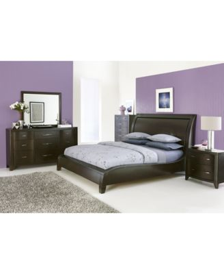 Morena King Pc Bedroom Set Bed Nightstand Chest