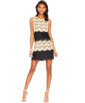 Jessica Simpson Tiered Lace Cocktail Dress - Dresses - Women - Macy&39s