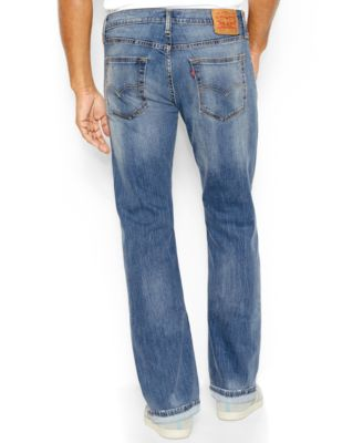 Levi's 527 Slim-Fit Bootcut Ripped Jeans, Damaged Stone - Jeans ...